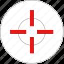cross, eye, target icon
