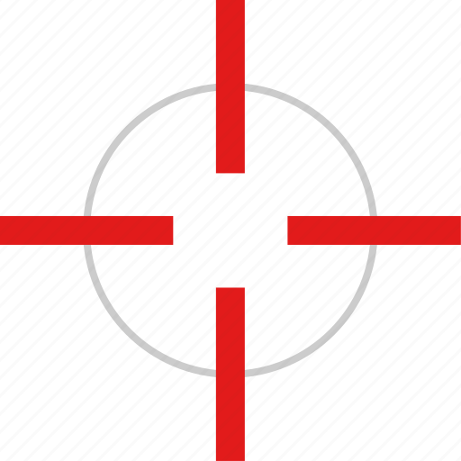 cross, pin, target icon