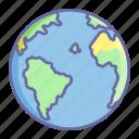 earth, globe, location, navigation, world icon