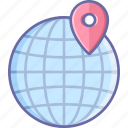 earth, globe, location, map, world icon