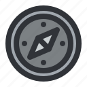 compass, direction, location, map, navigation icon