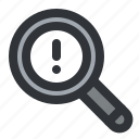 find, magnifier, notification, search icon
