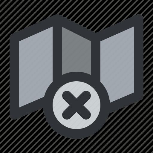close, map, navigation, remove icon
