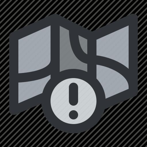 map, navigation, notification icon