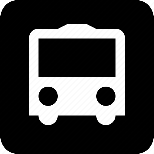 bus, public transit, stop icon