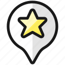star, pin, style
