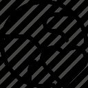 earth, favorite, globe, heart, like, love, planet, world icon