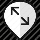 pin, diagonal, style, arrow