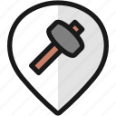 pin, hammer, style