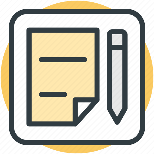 notes, paper, pen, sheet, writing icon