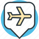 airport location, map locator, location marker, map pointer, airport location pin