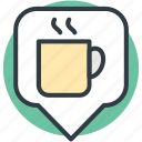 cafe location, coffee shop, coffee shop location, coffee shop pin icon