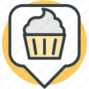 bakery location, bakery locator, cafe location, location marker, map pointer icon