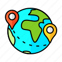 pin, pointer, travel, globe, gps, map, location