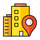 paper, pin, pointer, house, home, map, location icon