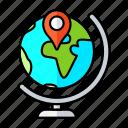 pin, earth, globe, gps, map, marker, location