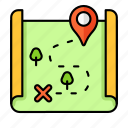 map direction, pin, pointer, travel, paper map, map, location