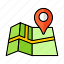 paper, place, pin, navigation, direction, road, map
