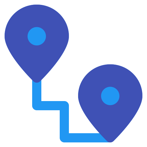 location, maps, navigation, pin, route icon