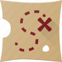 location, map, navigation, place, treasure icon