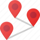 distance, geolocation, location, map, pin