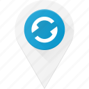 geolocation, location, map, pin, refresh, reload