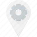 geolocation, location, map, pin, settings icon