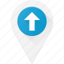 geolocation, location, map, pin, up icon