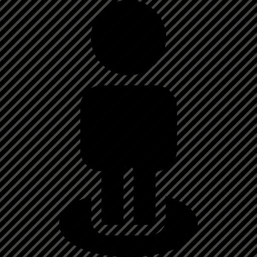 creative, grid, landmark, location, man, profile, shape, street, user icon