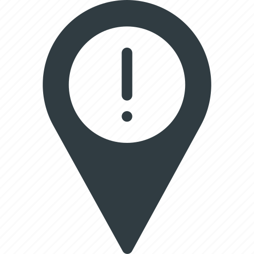 Allert, geolocation, location, map, pin icon - Download on Iconfinder
