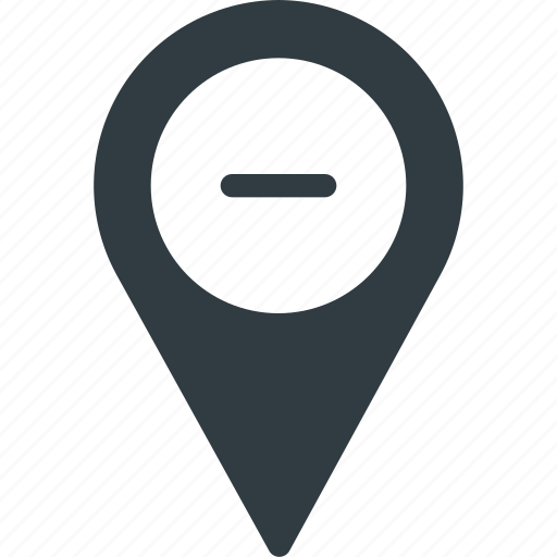 Geolocation, location, map, pin, remove icon - Download on Iconfinder