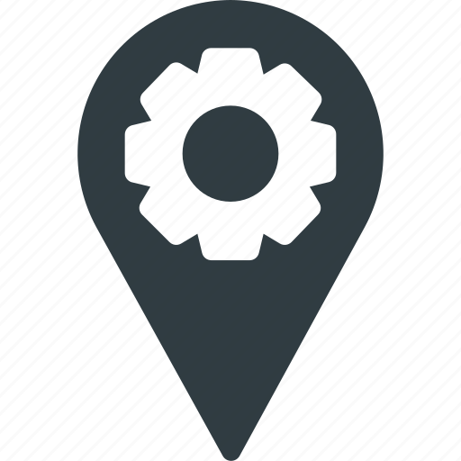 Geolocation, location, map, pin, settings icon - Download on Iconfinder