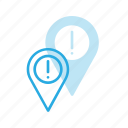 allert, geolocation, location, map, pin icon