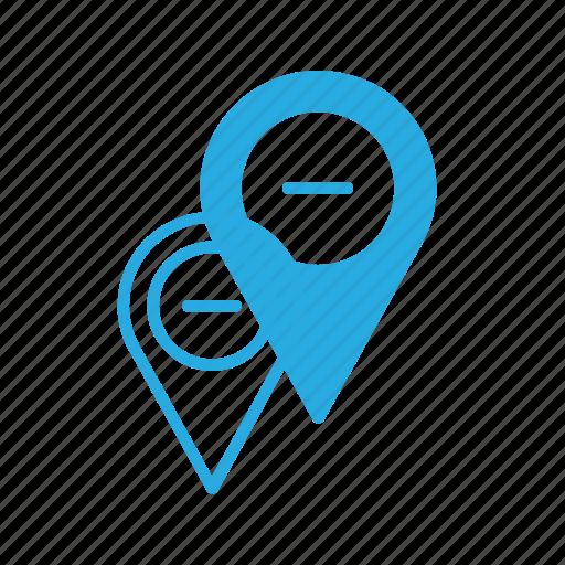 geolocation, location, map, pin, remove icon