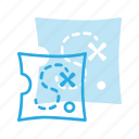 location, map, pirate, position, treasure icon