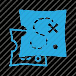 location, map, pirate, position, treasure icon