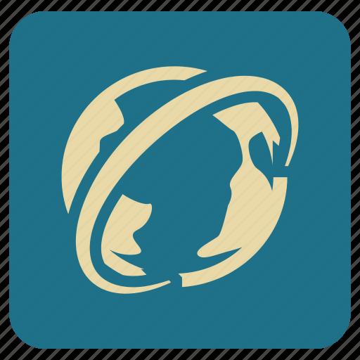 basic, globe, map icon