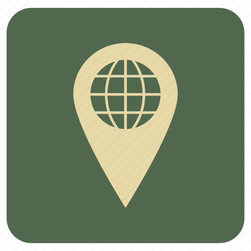 basic, globe, map, navigation, point icon