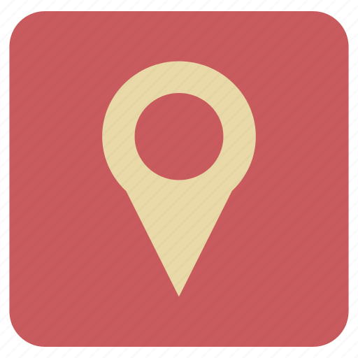 basic, map, navigation, point, rounded icon