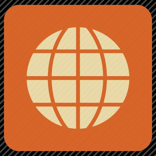 basic, globe, map, world icon