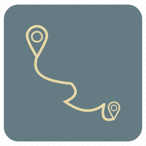 Basic, distance, map, point, to icon - Download on Iconfinder