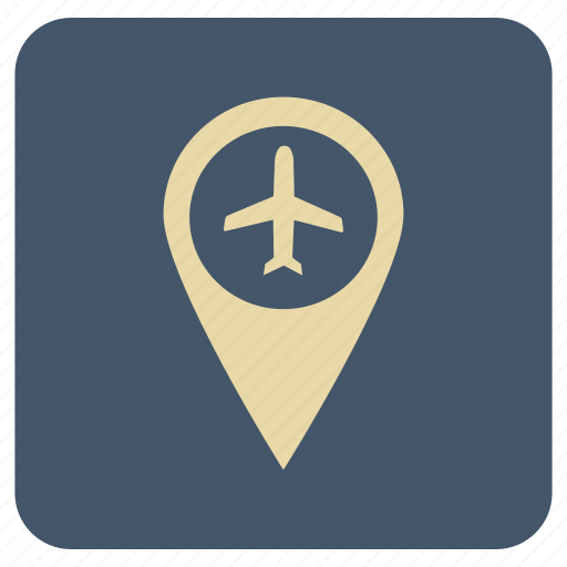 basic, fly, map, navigation icon