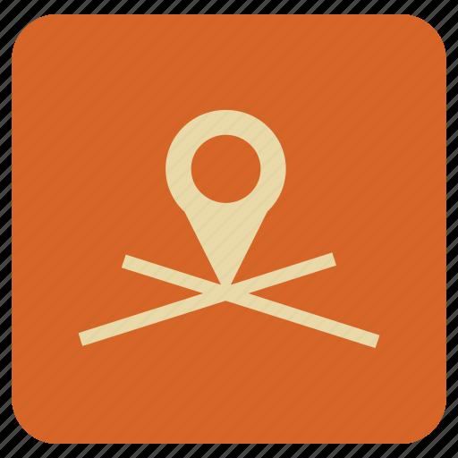 basic, map, navigation, spot icon