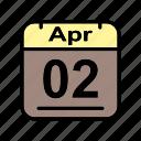 apr, april, calendar, date, schedule icon, su icon