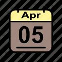 apr, april, calendar, date, schedule icon, we icon