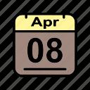 apr, april, calendar, date, sa, schedule icon icon
