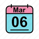 calendar, date, mar, march, mo, schedule icon icon