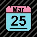 calendar, date, mar, march, sa, schedule icon icon