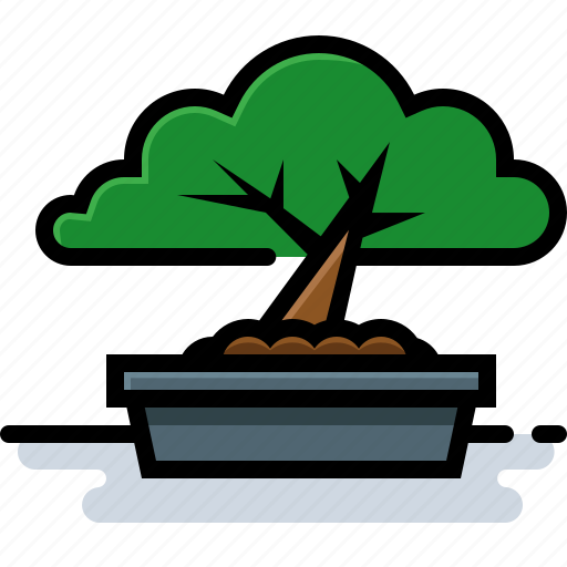 bonsai, japanese culture, plant, tree icon