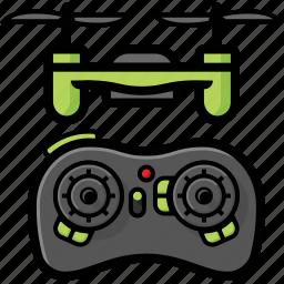 drone, nano, quadcopter, remote icon